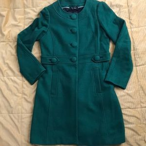 Green wool coat (M)